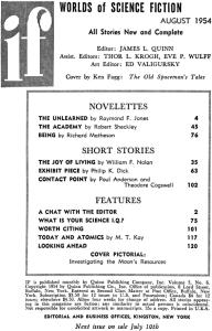 If Contente Aug 1954